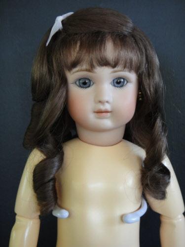 Perruque de poupée ancienne et moderne 20 à 27 cm Taille 2 à 6 - 100/% MOHAIR
