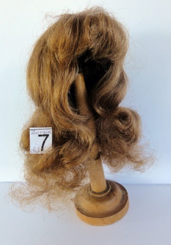 "Human Hair DOLL WIG size 17/"" Long red-brown hair. 43 cm DISCOUNT 40/%"