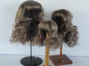 PERRUQUE 100/% cheveux naturels pour POUPEE ANCIENNE-DOLL WIGS-Floue 0 17.5cm